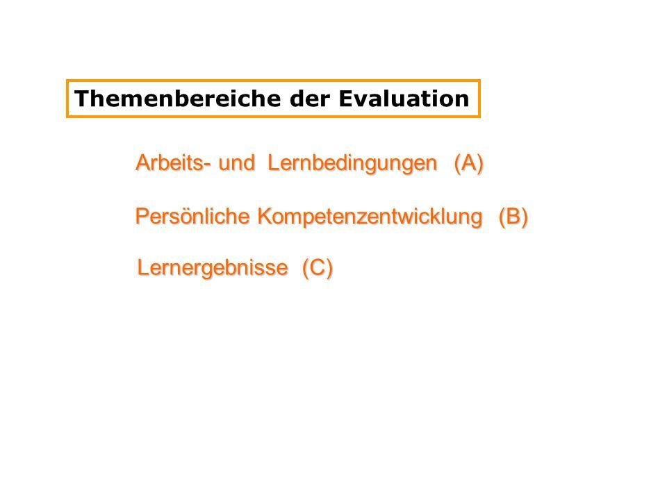 Themenbereiche der Evaluation