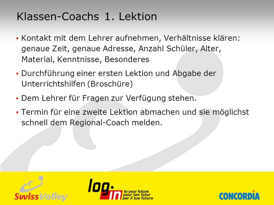 Klassen-Coachs 1. Lektion
