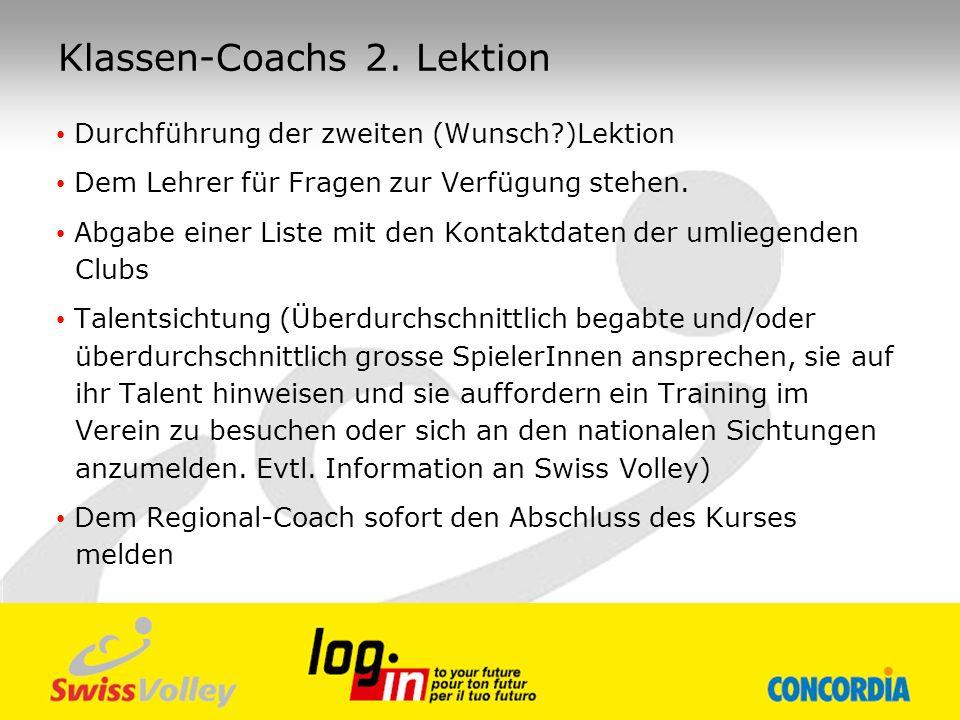 Klassen-Coachs 2. Lektion