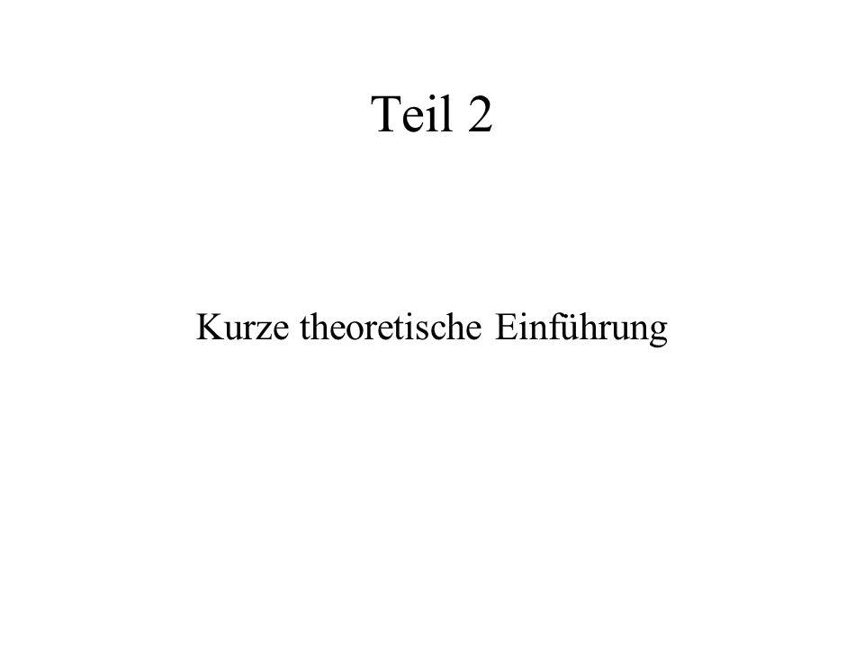 Kurze theoretische Einführung