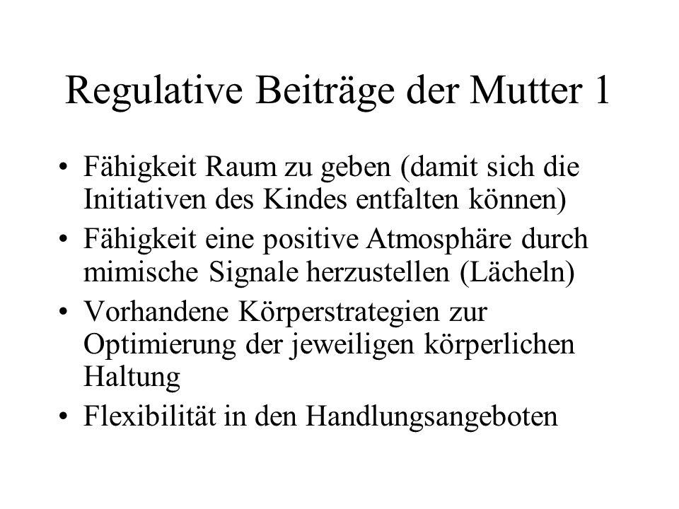 Regulative Beiträge der Mutter 1