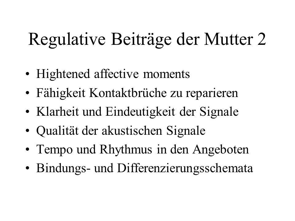 Regulative Beiträge der Mutter 2