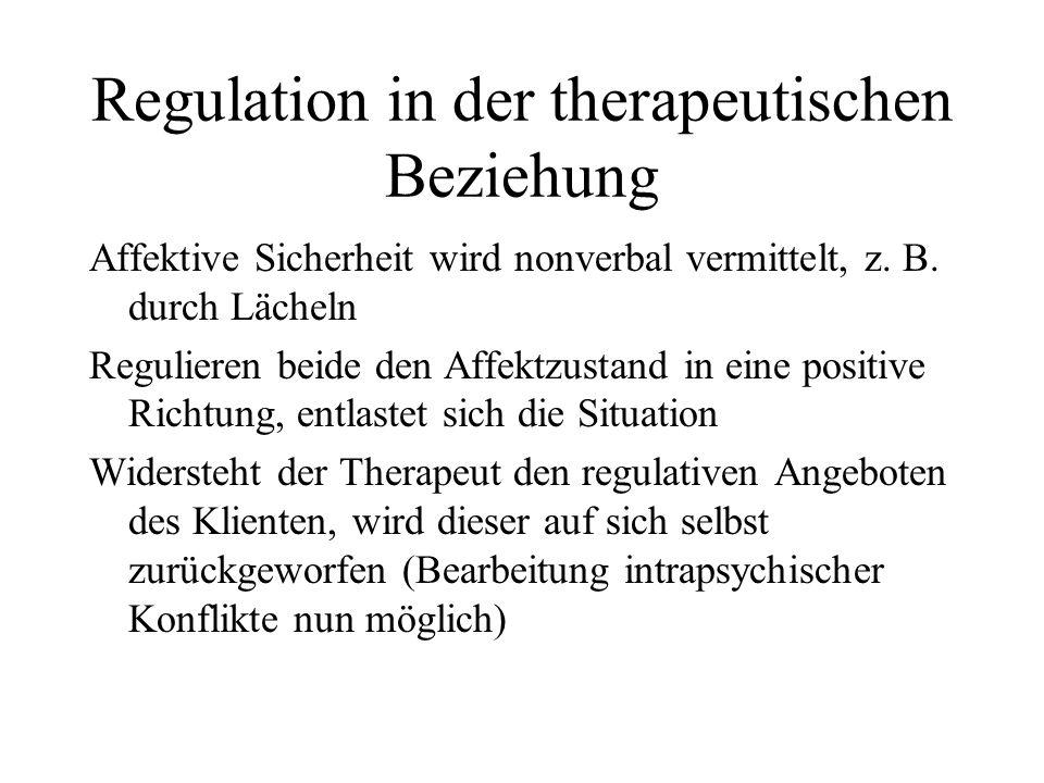 Regulation in der therapeutischen Beziehung