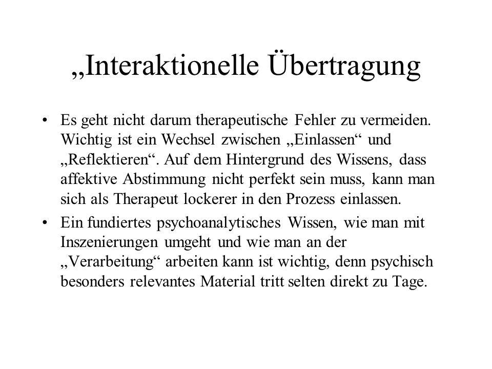 """""""Interaktionelle Übertragung"""