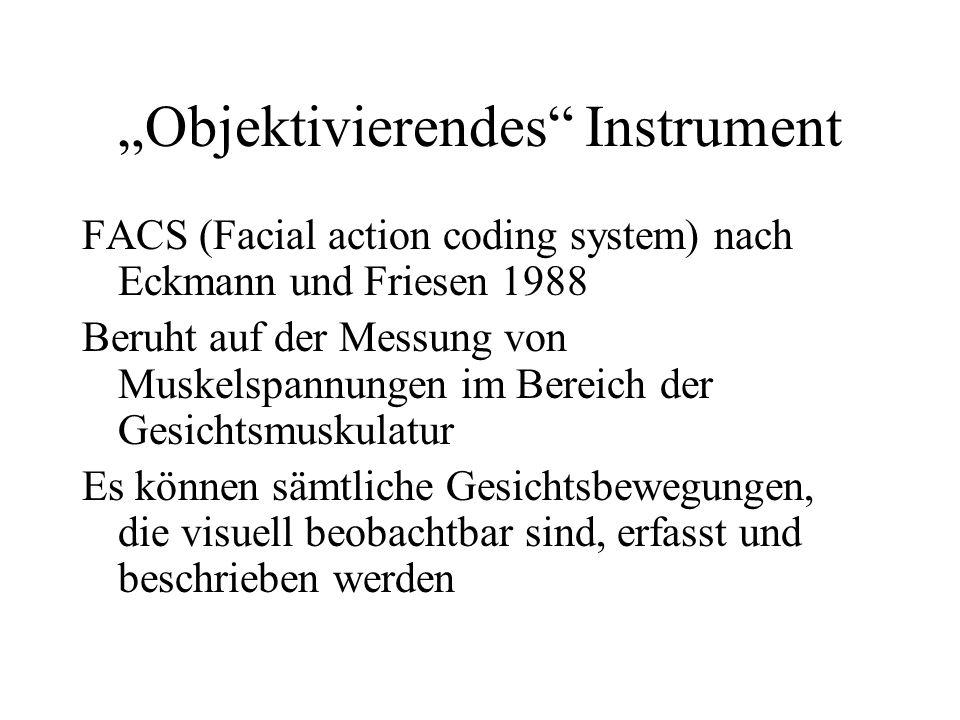 """""""Objektivierendes Instrument"""