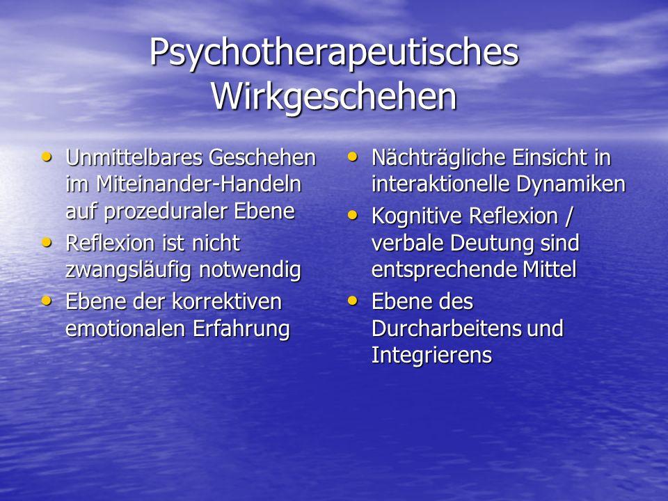 Psychotherapeutisches Wirkgeschehen