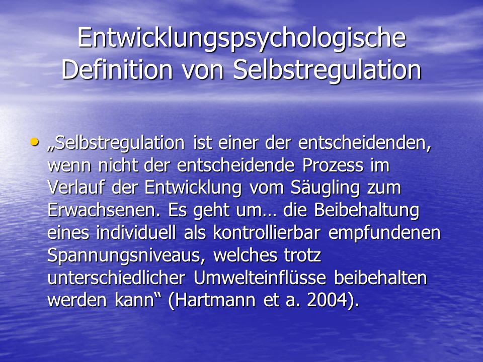 Entwicklungspsychologische Definition von Selbstregulation