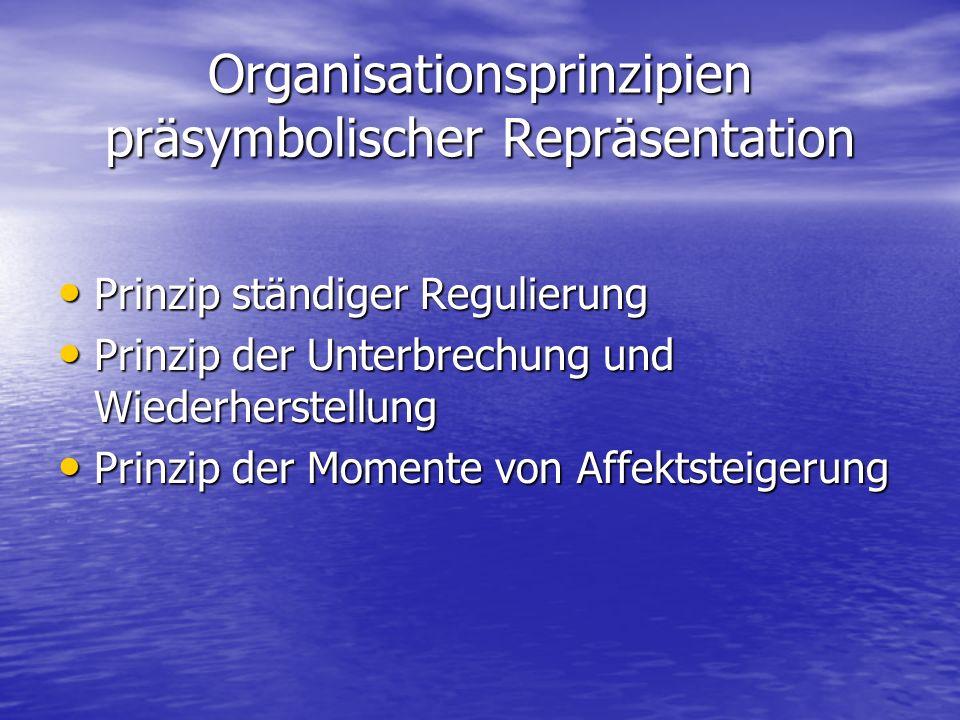 Organisationsprinzipien präsymbolischer Repräsentation