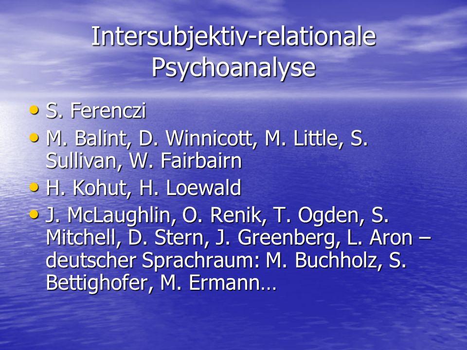 Intersubjektiv-relationale Psychoanalyse