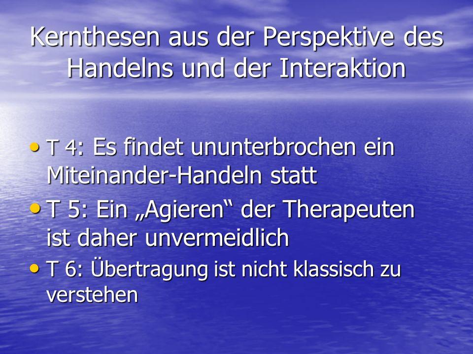 Kernthesen aus der Perspektive des Handelns und der Interaktion