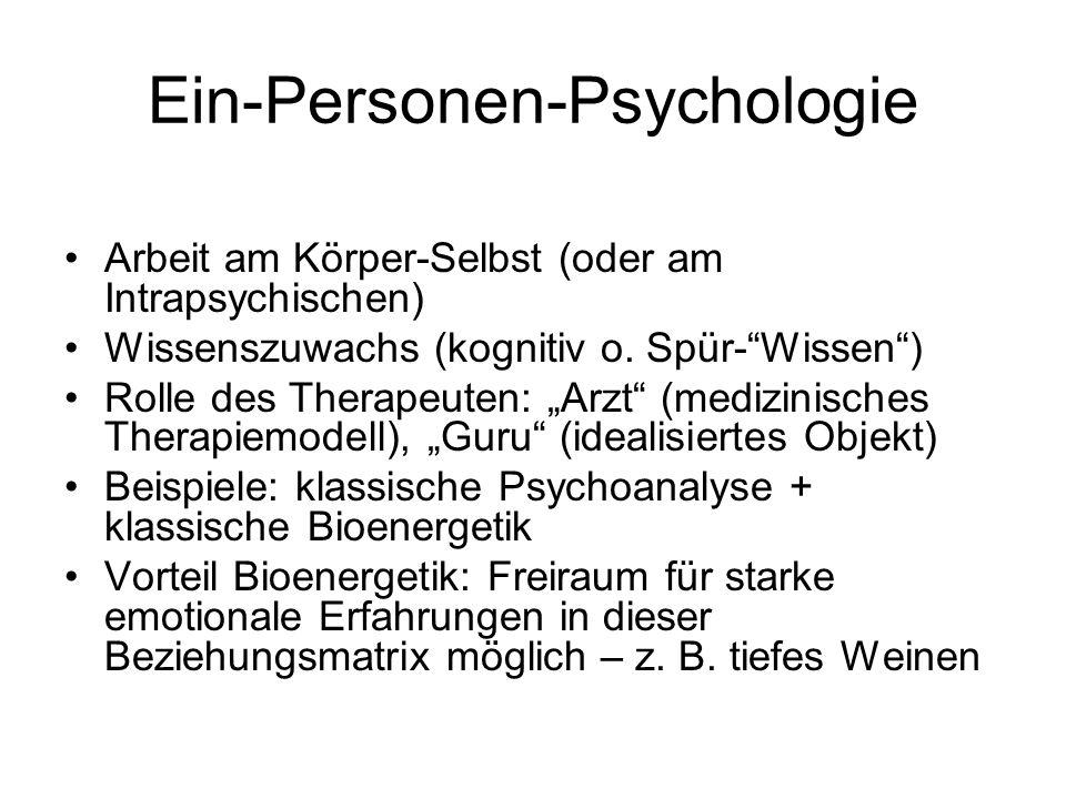 Ein-Personen-Psychologie