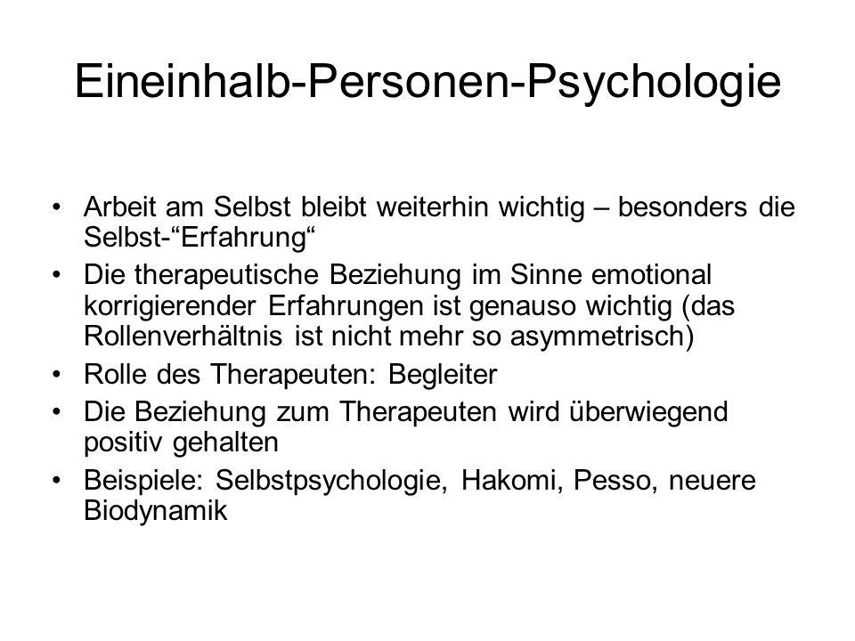 Eineinhalb-Personen-Psychologie