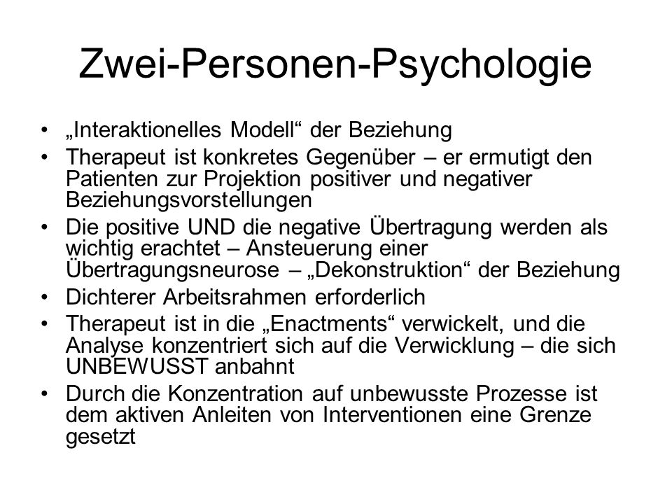 Zwei-Personen-Psychologie