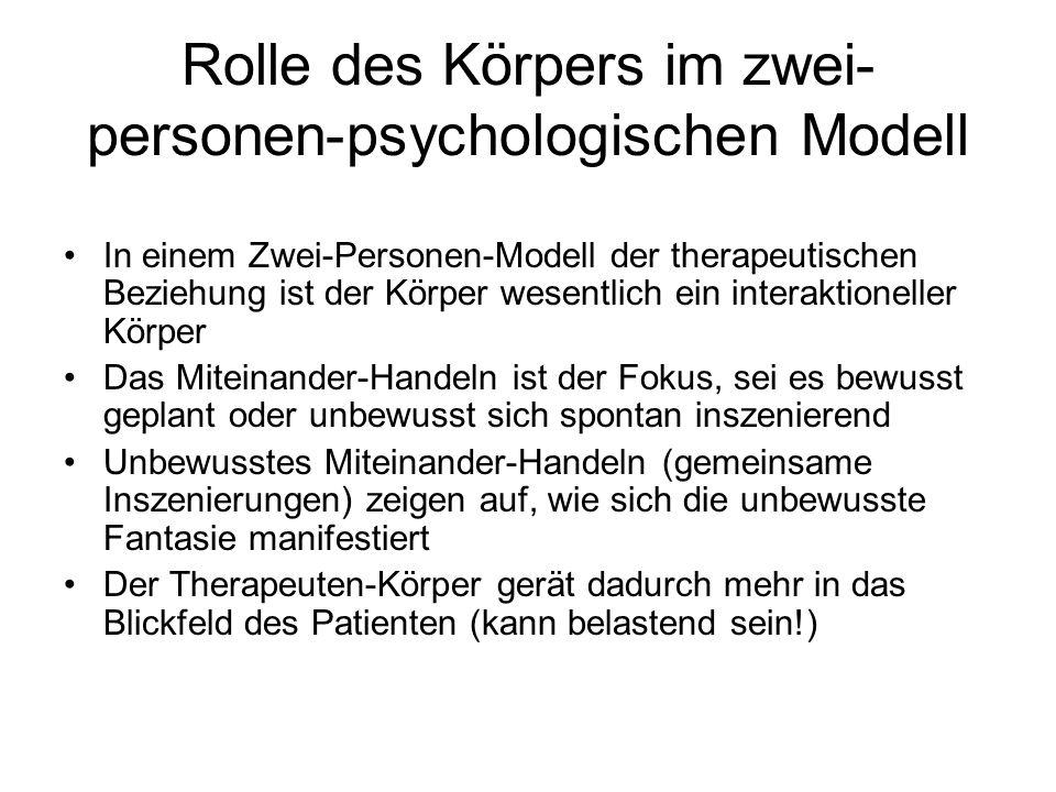 Rolle des Körpers im zwei-personen-psychologischen Modell