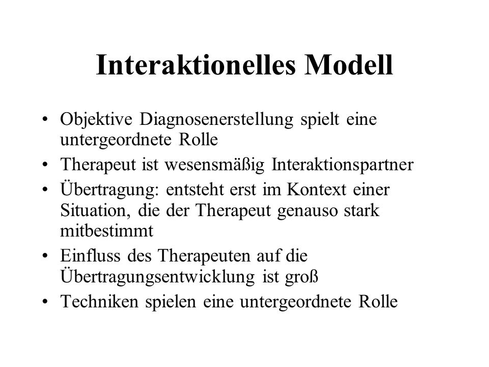 Interaktionelles Modell