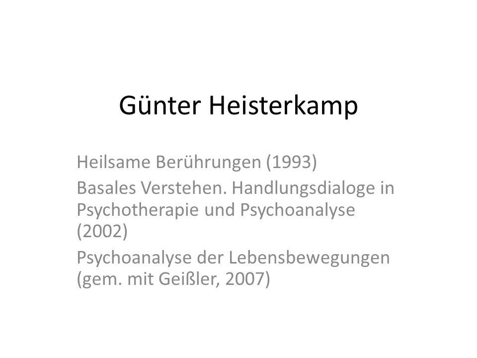 Günter Heisterkamp Heilsame Berührungen (1993)