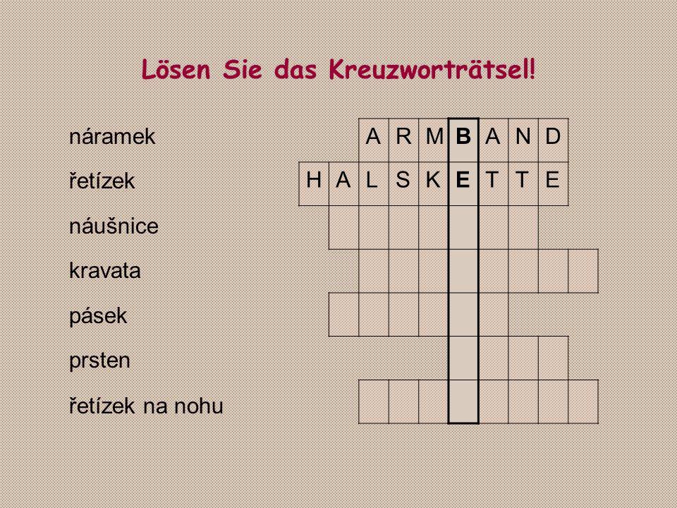 Lösen Sie das Kreuzworträtsel!