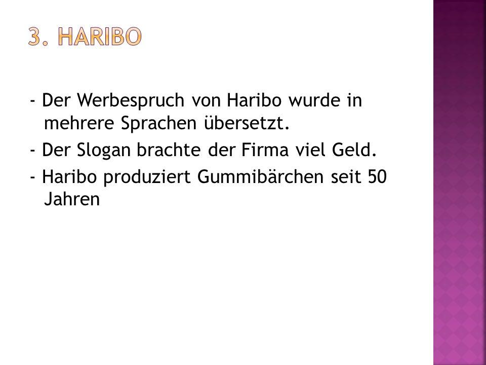 3. Haribo