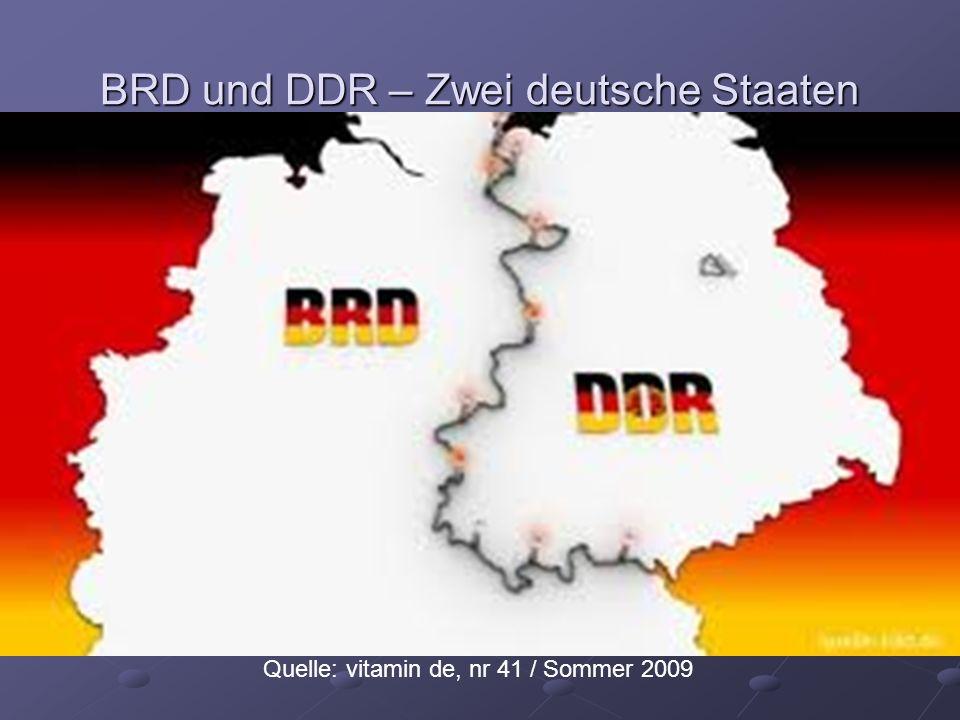 BRD und DDR – Zwei deutsche Staaten