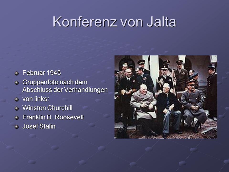 Konferenz von Jalta Februar 1945
