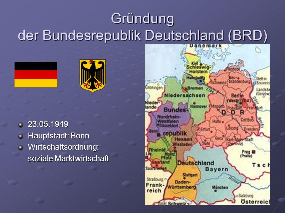 Gründung der Bundesrepublik Deutschland (BRD)