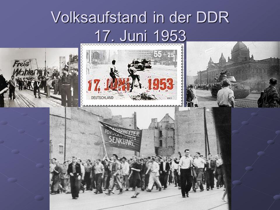Volksaufstand in der DDR 17. Juni 1953