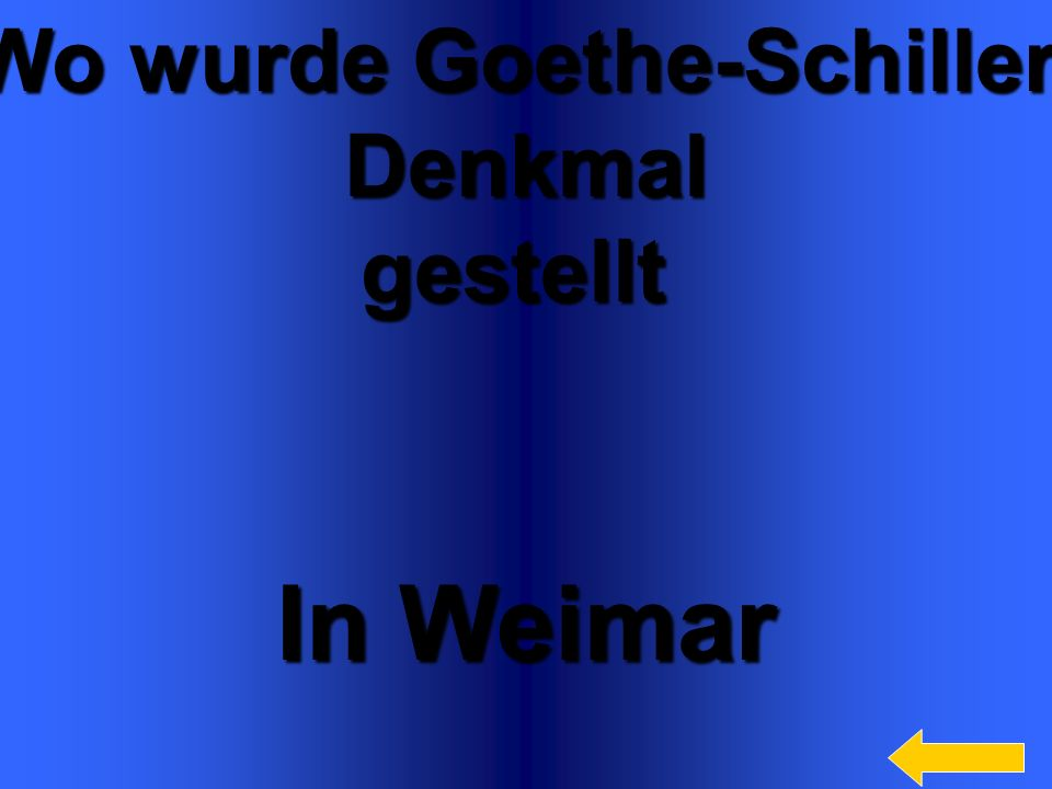 Wo wurde Goethe-Schiller