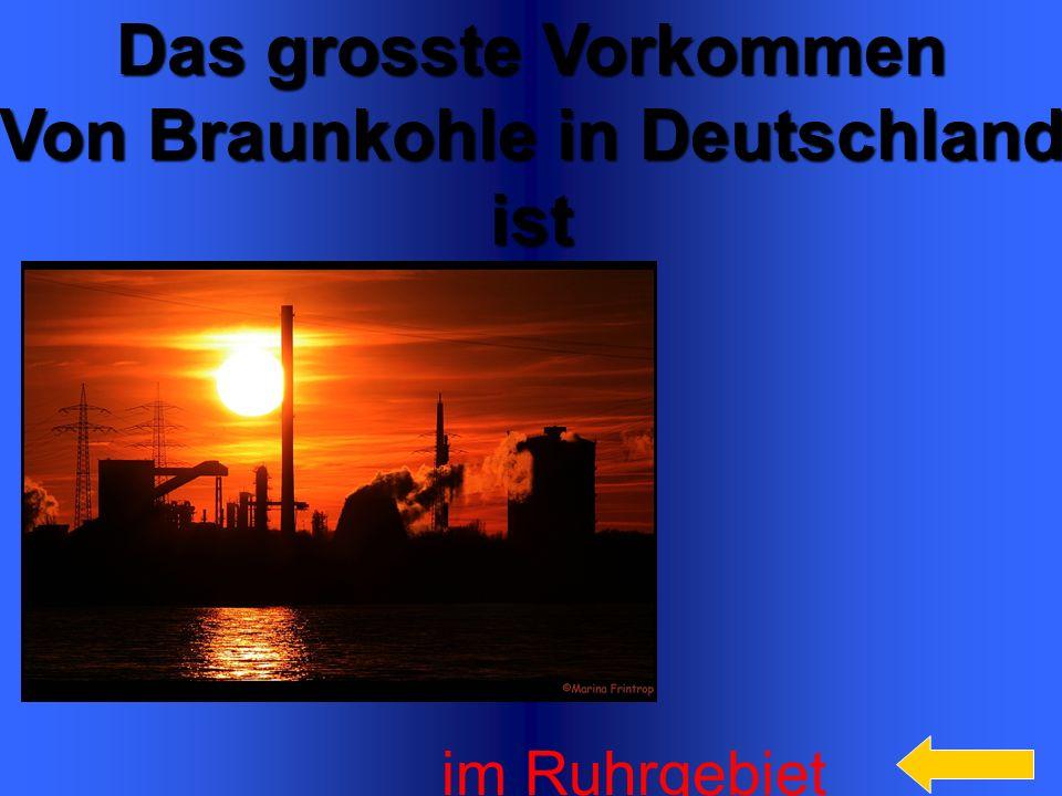 Von Braunkohle in Deutschland