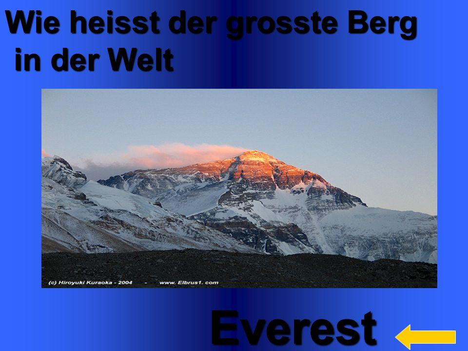 Everest Wie heisst der grosste Berg in der Welt