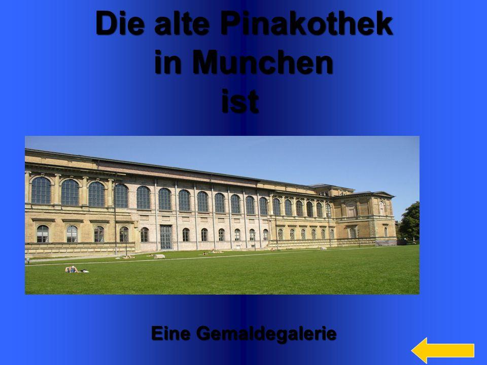 Die alte Pinakothek in Munchen