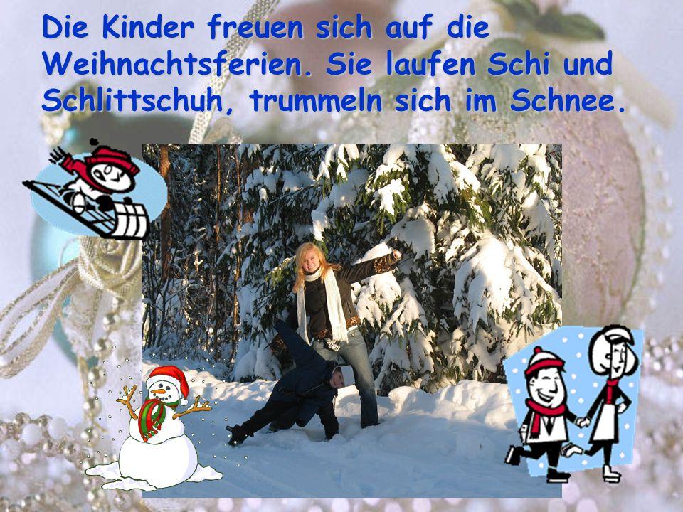 Die Kinder freuen sich auf die Weihnachtsferien