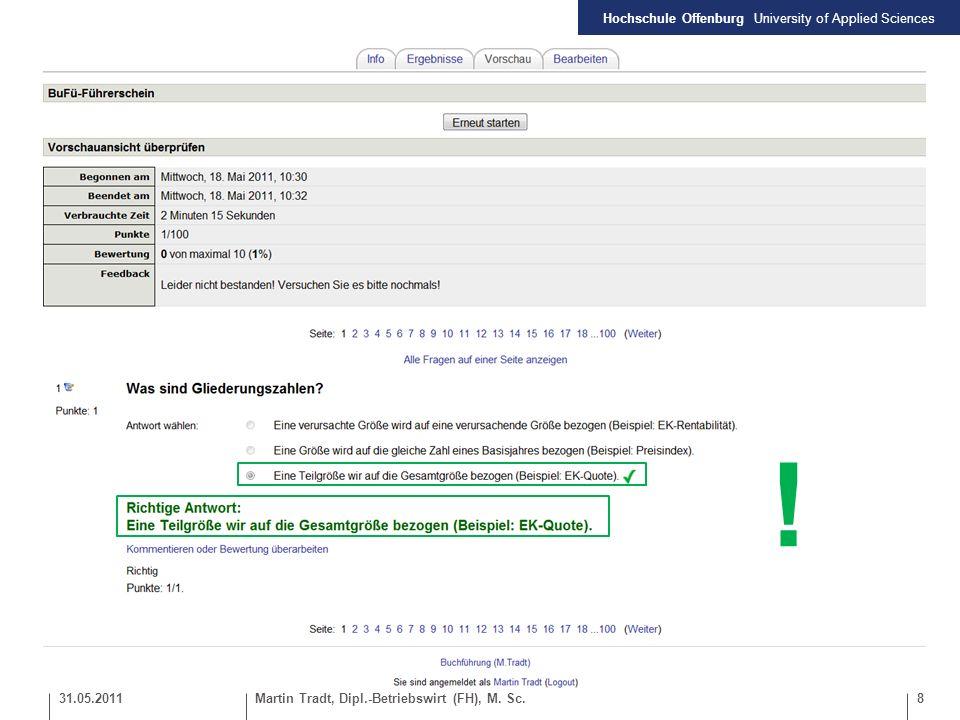 ! 31.05.2011 Martin Tradt, Dipl.-Betriebswirt (FH), M. Sc.