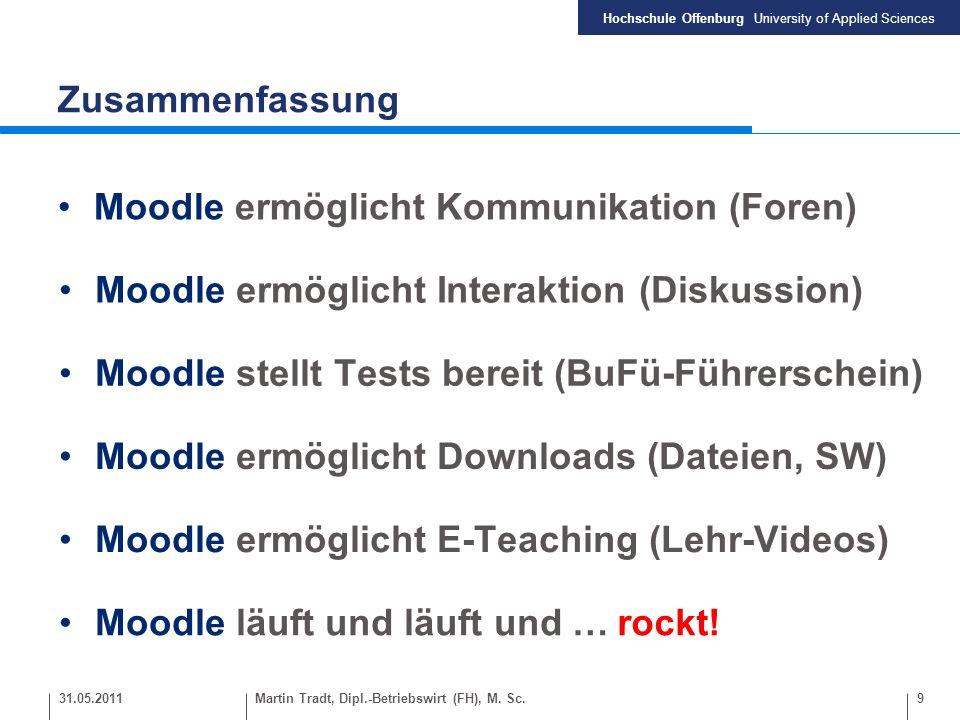 Moodle ermöglicht Kommunikation (Foren)