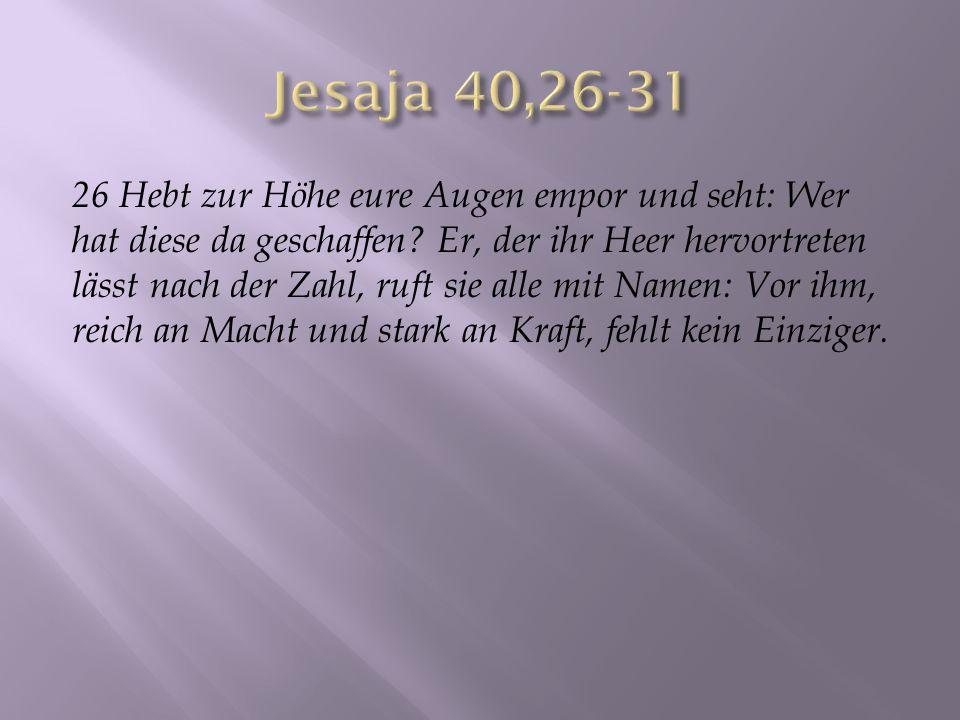 Jesaja 40,26-31