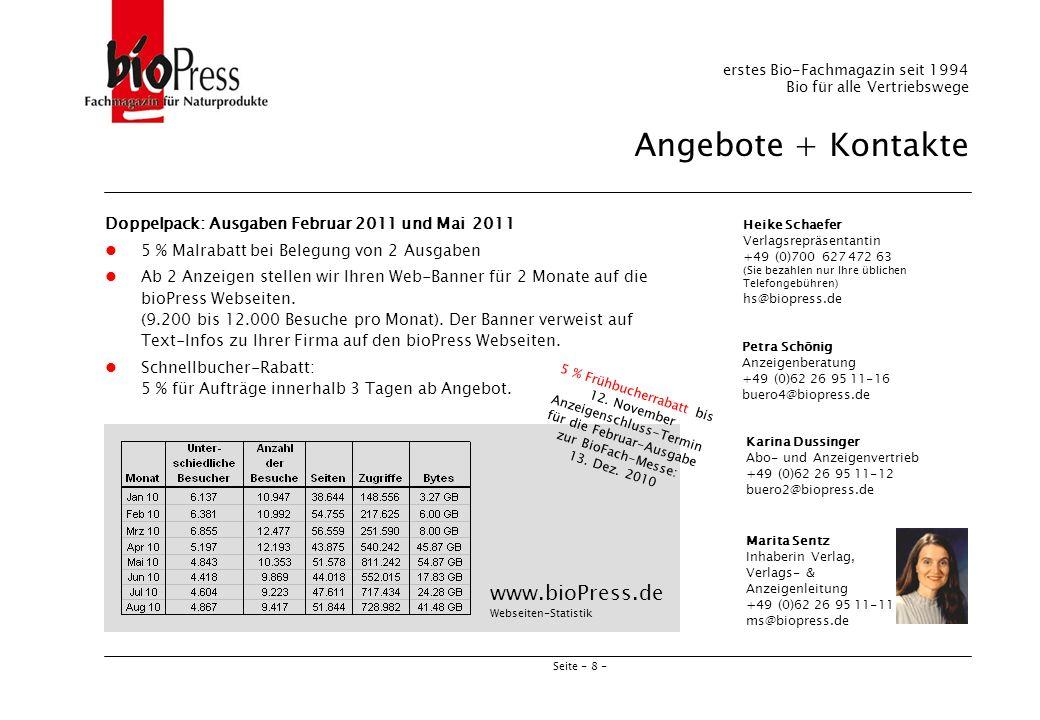 5 % Frühbucherrabatt bis 12. November