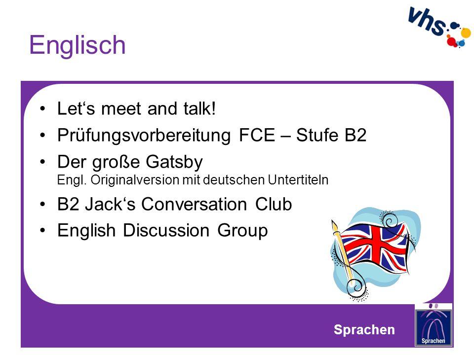 Englisch Let's meet and talk! Prüfungsvorbereitung FCE – Stufe B2