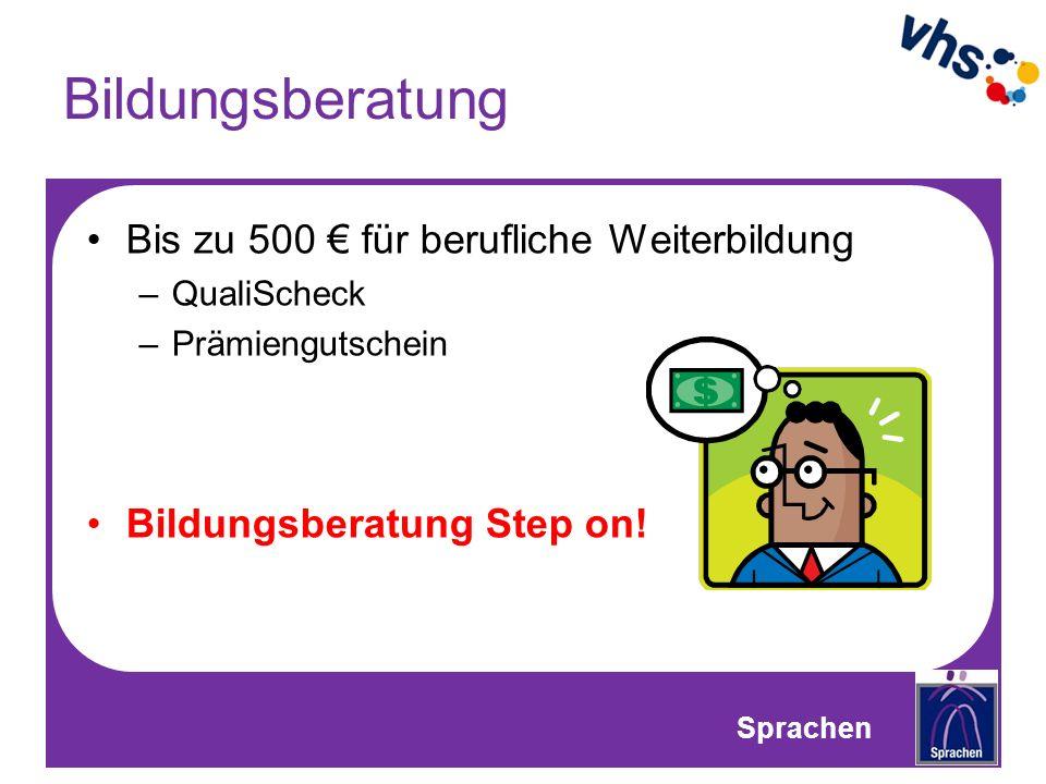 Bildungsberatung Bis zu 500 € für berufliche Weiterbildung