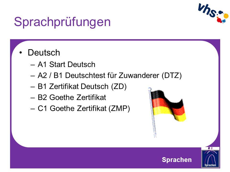 Sprachprüfungen Deutsch A1 Start Deutsch