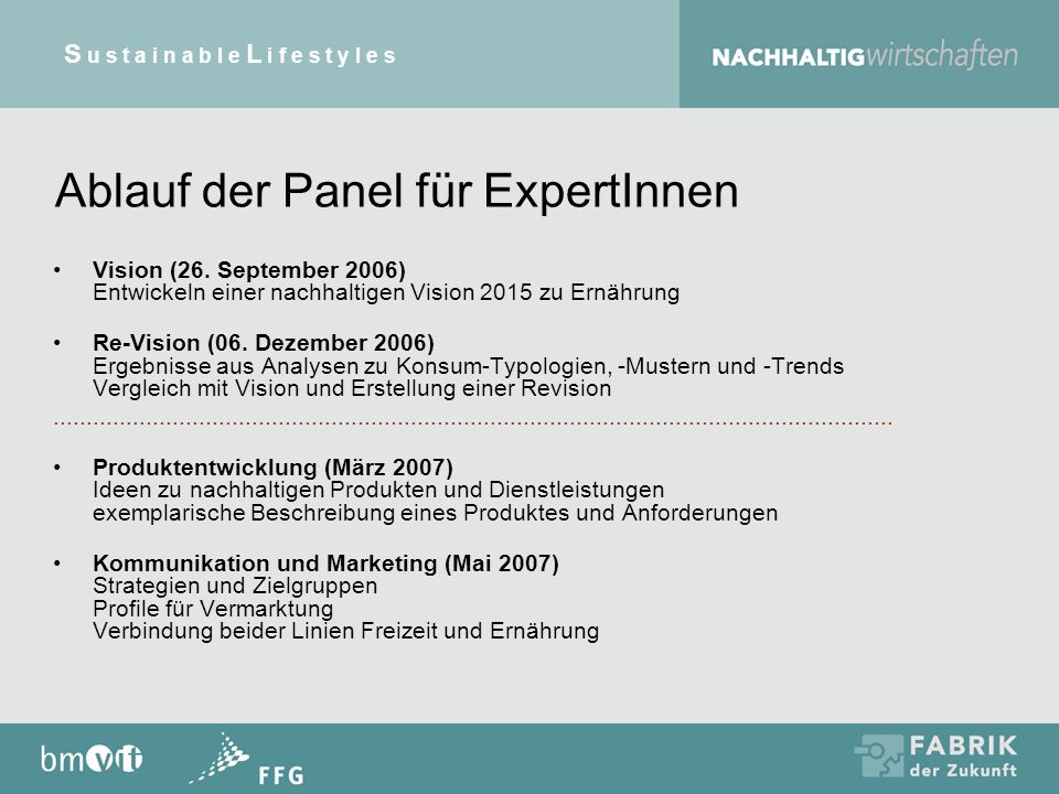 Ablauf der Panel für ExpertInnen