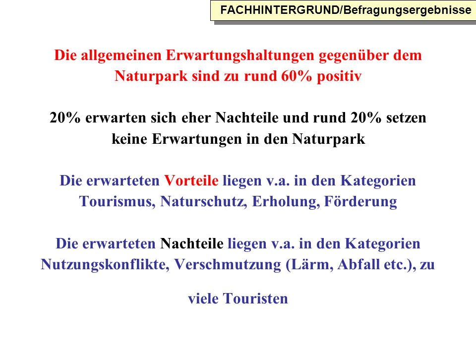FACHHINTERGRUND/Befragungsergebnisse