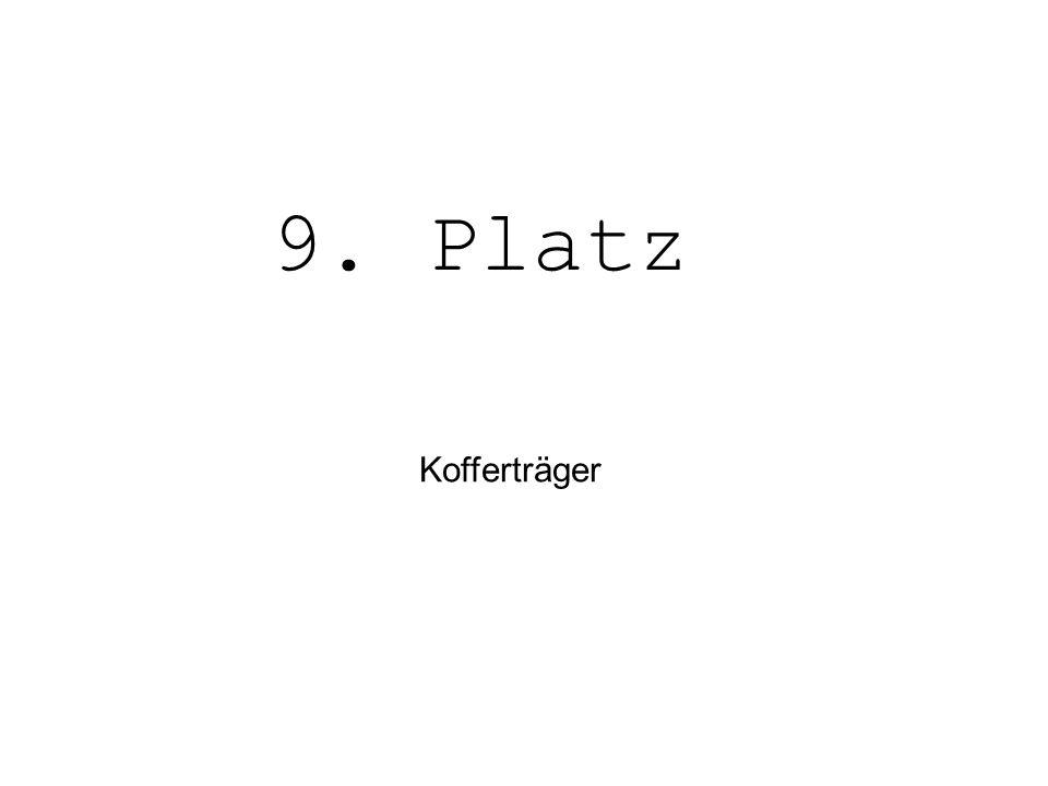 9. Platz Kofferträger