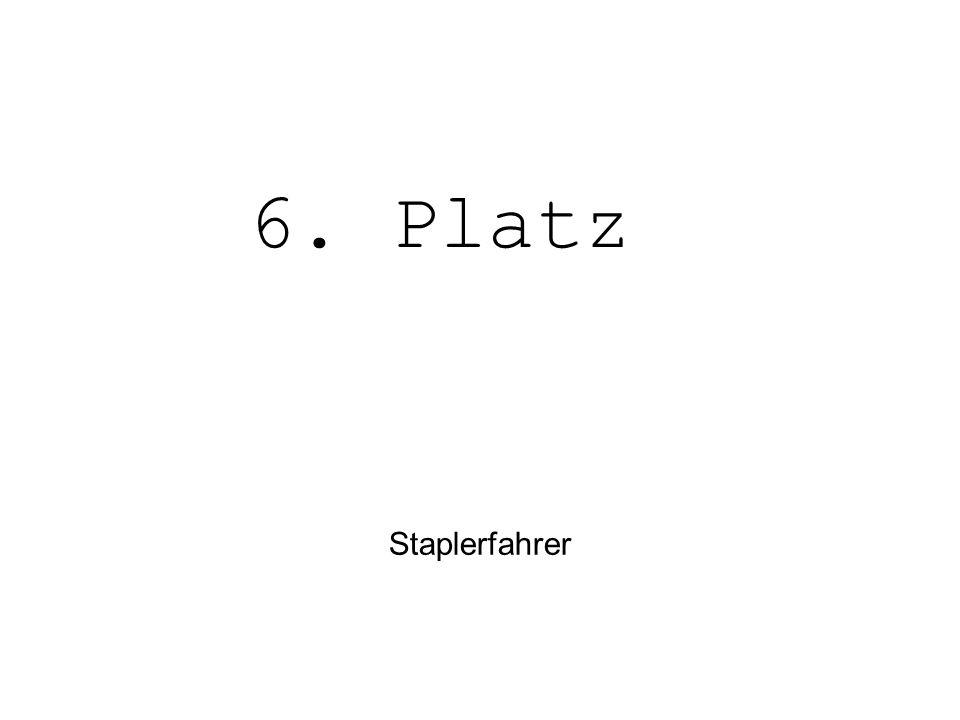 6. Platz Staplerfahrer