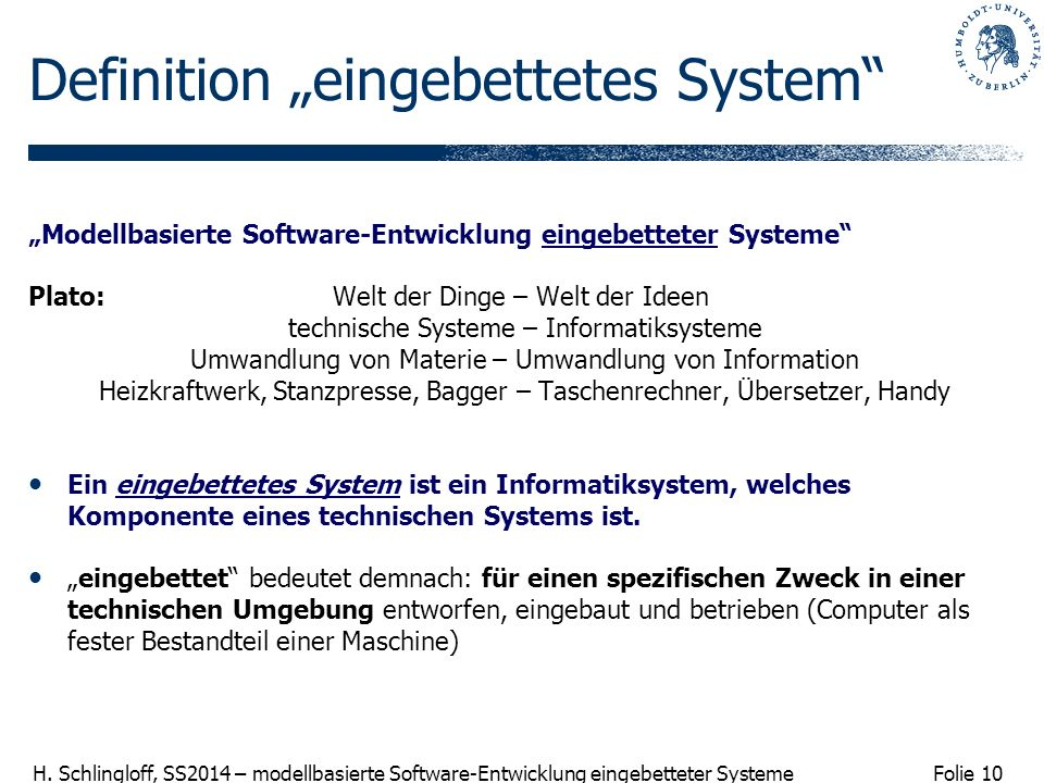 "Definition ""eingebettetes System"