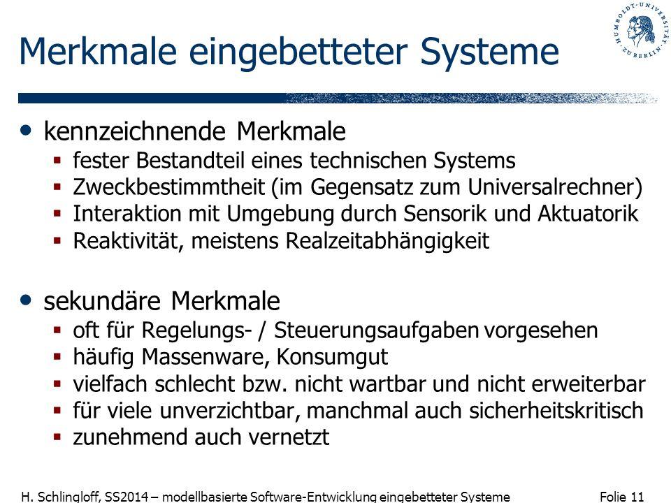 Merkmale eingebetteter Systeme
