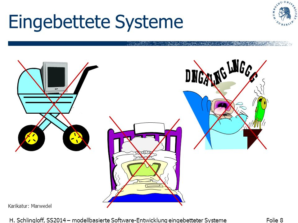 Eingebettete Systeme Karikatur: Marwedel