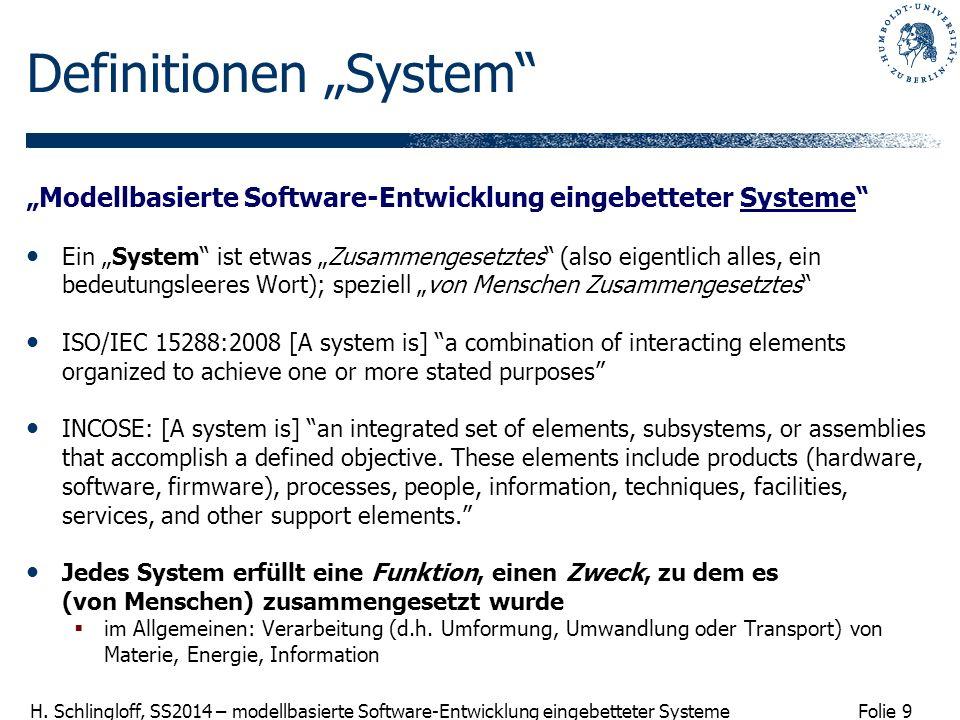 """Definitionen """"System"""