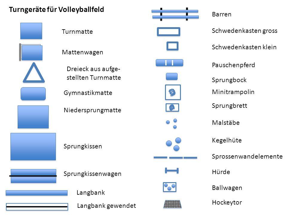 Turngeräte für Volleyballfeld