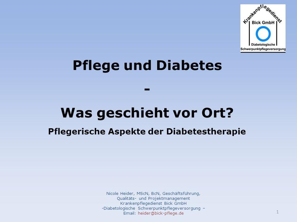 Pflegerische Aspekte der Diabetestherapie