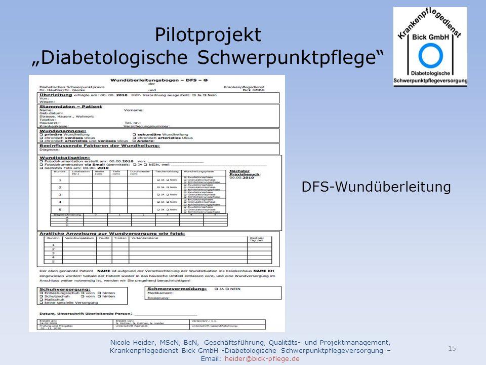 """Diabetologische Schwerpunktpflege"