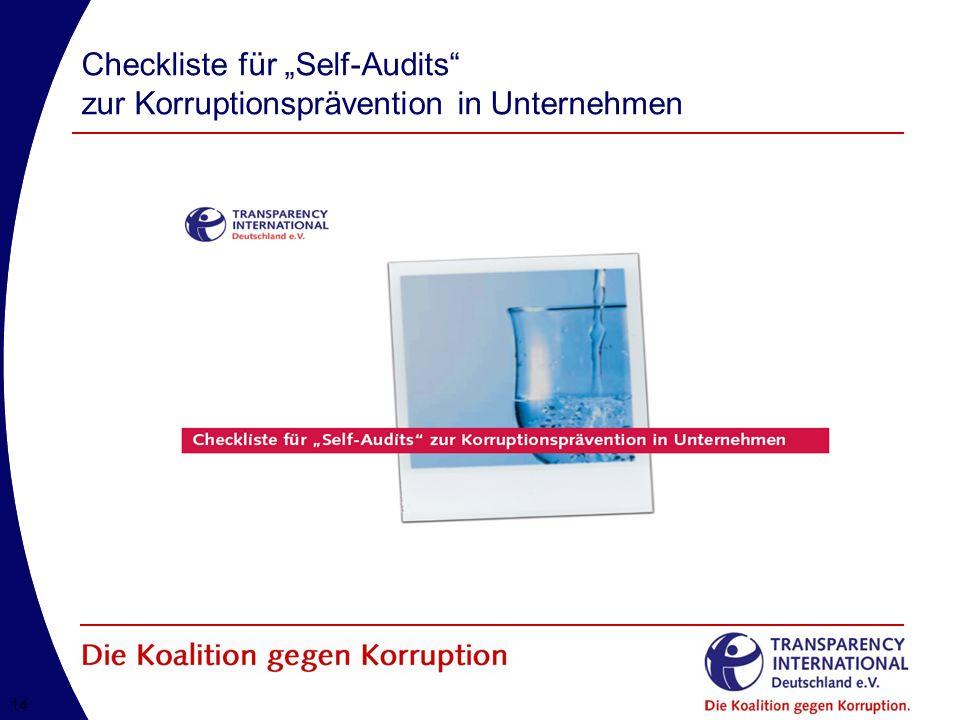 """Checkliste für """"Self-Audits zur Korruptionsprävention in Unternehmen"""